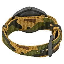 nixon mod black dial men u0027s green camo watch a3481629 nixon