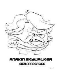 Angry Birds Star Wars 2 Coloring Pages Anakin 1