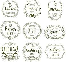 Hand Drawn Floral Frames In Rustic Style For Any Occasion Vector