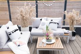 deko trend gräser outdoor lounge im boho look decorize