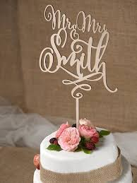 Rustic Cake Topper Wedding Custom Wood