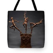 100 Studio Altius Citius Fortius Olympic Art On Gray 1 Tote Bag
