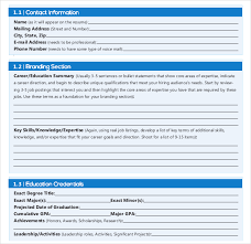 Professional Resume Writing Template In PDF