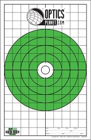 OpticsPlanet Exclusive EZ2C Targets Red Dot Optics Large Bullseye Paper  Targets,