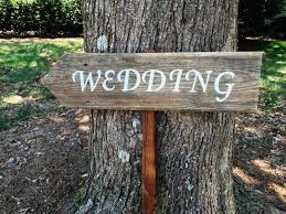 Wedding Signs Wood Arrow Sign Wooden Barn Rustic