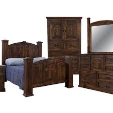 Rustic Mansion Cross Bedroom Group
