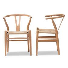baxton studio brown wood dining chair with hemp seat free