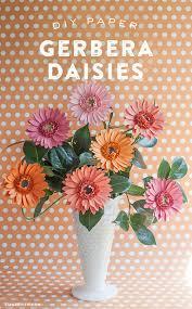 DIY Gerbera Daisies Paper