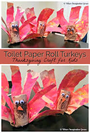 In Order To Liven Up Our Table We Made This Easy Turkey Craft From Toilet Paper Rolls And Lunch Bags The Kids Really Enjoyed Making Them They