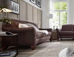 lebensart canterbury sofa in stoff braun