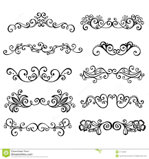 Calligraphic Borders Anctor D Page Decoration Royalty Free Stock Photography