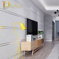 100 In Marble Walls Modern Simple Suede Stripes Wallpaper For Roll Papel De
