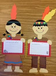 Brown Crafting Paper New Fall Thanksgiving Indian Boy And Girl Craft Primary