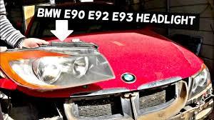 bmw e90 e92 e93 headlight removal replacement 325i 328i 330i 335i