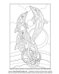 Free Coloring Page Dolphin Ocean Sea Life From The Seeking Serenity Adult Book By Rebecca Burg Davlin Publishing