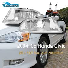 fits 2004 2005 honda civic 2d 4dr driving bumper fog lights bulbs