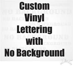 Custom Vinyl Text Decal Choose Font Color Size