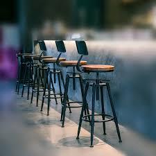 rustikale vintage retro metall frühstück barhocker küche zähler stuhl mit rückenlehne höhenverstellbar restaurant cafe
