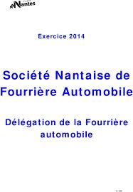 bureau de transcription nantes les rapports des délégataires de services publics ville de nantes