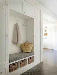mudroom herringbone tiles design ideas