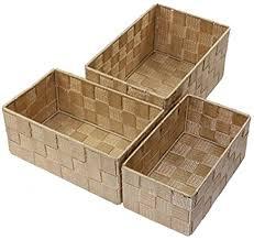 unbekannt aufbewahrungsbox 3er set geflochten rechteckig badezimmer box korb 8 farben farbe beige