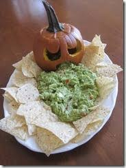 Vomiting Pumpkin Dip by Pick Me Halloween Dishes The Guacamole Puking Pumpkin