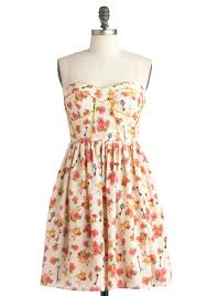 have gramercy dress short cream yellow green pink brown