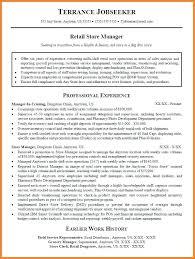 Supermarket Manager Resumes Resume Professional