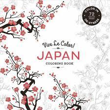 Vive Le Color Japan Coloring Book In De Stress 72 Tear Out Pages