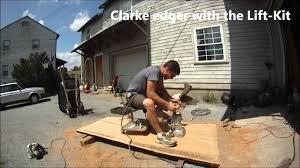 Clarke Floor Sander Edger Super 7r by Sit N Roll On Slab Floor Sanding Stool Youtube