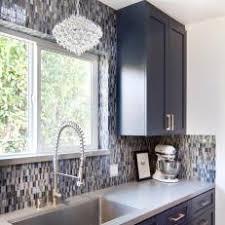 blue midcentury modern kitchen photos hgtv