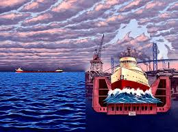 Edmund Fitzgerald Sinking Location by The Wreck Of The Edmund Fitzgerald Painting By Kevin Breyfogle
