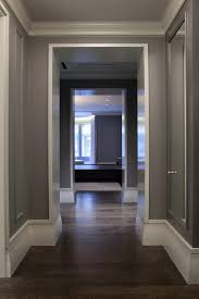 grey stained oak contemporary with baseboard gray engineered
