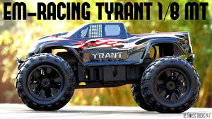 100 Rc Truck Video EMRacing Tyrant 18 4WD Brushless RC Monster Unboxing And