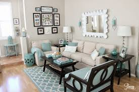 Grey Brown And Turquoise Living Room by Living Room Brown L Shaped Couch Design Wall Paint Color