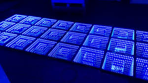 remote controlled 3d effect tempered glass floor panels led