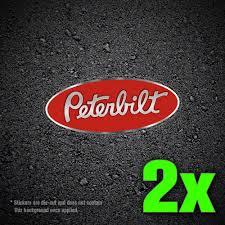 2x Peterbilt RED Vinyl Decal Sticker For Car Truck Window | Etsy