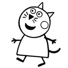 Candy Cat Peppa Pig Character Baby Alexander Coloring Pages