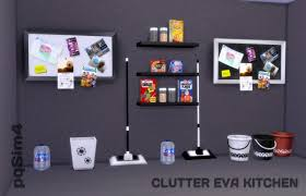 Decor Clutter Eva Kitchen From PQSims4 O Sims 4 Downloads