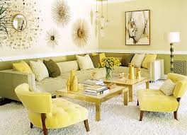 View In Gallery Warm Yellows Showcase A 70s Retro Look Along With Tinge Of Hollywood Regency