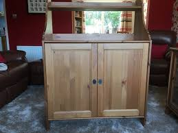 Wooden Ikea Dining Room Living Cabinet