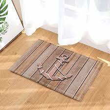 feiyang schiff fußmatte holzbrett holz anker badezimmer boden bad matte boden eingang outdoor indoor haustür matte kinder bad matte 60x40cm