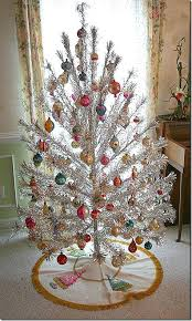 Tinsel Tree With Color Wheel Vintage New House Designs Aluminum Christmas Light