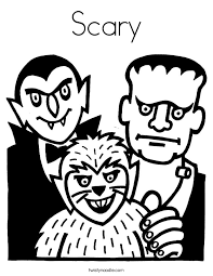 Scary Coloring Page