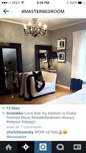 Black White Silver Bedroom So Chic