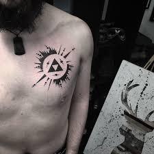 Man Chest Tattoo