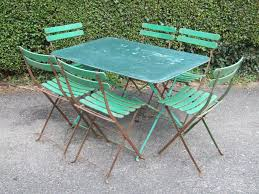 G214 - Vintage French 6 Seater Folding Metal Garden / Café ... Lumisource Oregon High Back 5piece Vintage White And Aqua Small Farmhouse Table Set With Bench Metal 12ft Upcycled Board Table 12 Vintage Metal Chair Set 170 Wooden Hire Company Chairs Looking Restoration Painted Patio Fniture Modern Inspiring Chairs Stock Image Image Of Iron Old Fniture In Garden Natural Green Background Garden E6 Ldon For 8000 Sale Shpock Retro Porch Home Decor Ideas Find Great Outdoor Seating Folding Pastel Blue At Scaramanga