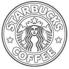 Starbucks Clipart Black And White