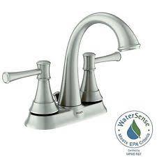 Moen Kingsley Faucet Brushed Nickel by Moen Ashville Centerset 2 Handle Bath Faucet Brushed Nickel