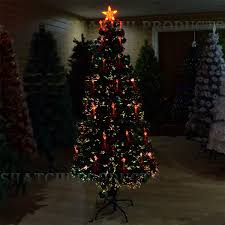 Fibre Optic Christmas Tree 6ft by 6ft 180cm Christmas Tree Fiber Optic Pre Lit Xmas Ttree With